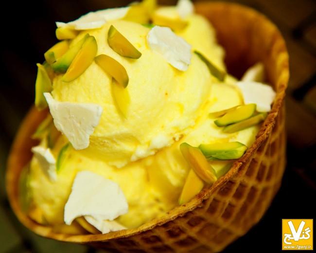طرز تهیه بستنی سنتی زعفرانی مخصوص + نکات مهم