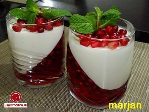 طرز تهیه پاناکوتای انار ، دسر مخصوص شب یلدا   نکات مهم