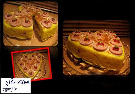 طرز تهیه کیک ماکارونی ، یک غذای خوشمزه و زیبا