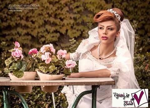 مدل آرایش صورت و شینیون عروس 94