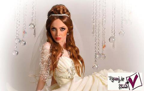 زیباترین مدلهای شینیون و آرایش عروس 2015