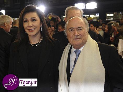 ماجرای ازدواج رئیس فیفا با یک زن ایرانی   تصاویر و بیوگرافی