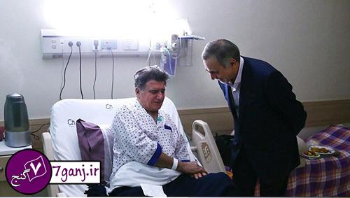 عیادت برادر روحانی و وزیر بهداشت از شجریان / عکس