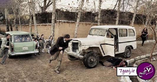 صحنه تصادف فروغ فرخزاد / عکس