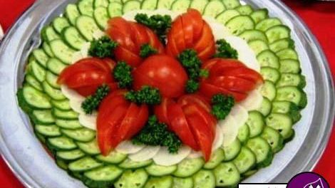 تزيينات گوجه و خيار
