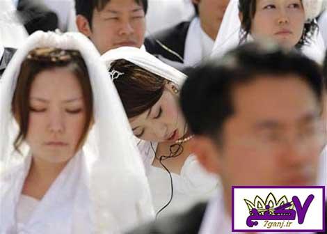 عروسی که در مراسم ازدواج خوابش برد !   عکس