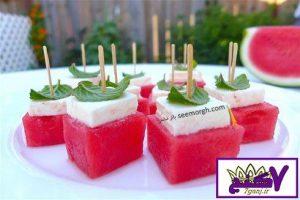 تزئین هندوانه شب یلدا