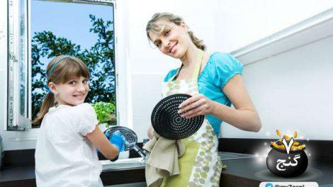 7 راهکار هوشمندانه برای تمیزکاری های بعد از شام