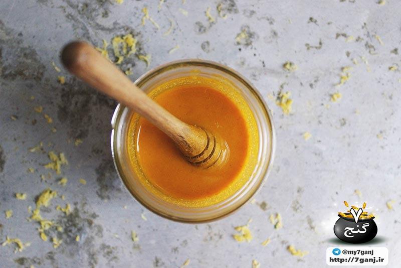 عسل با زردچوبه