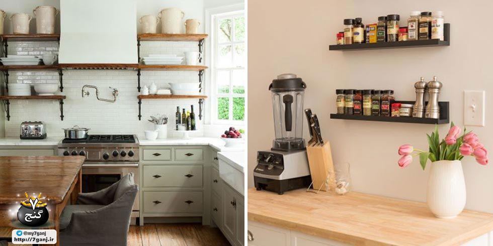 طراحی دکوراسیون آشپزخانه کوچک با ۱۲ راهکار خلاقانه
