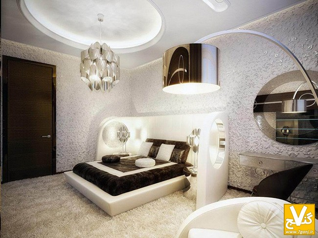 luxury-teenage-girl-bedroom-decorating-ideas-completed-with-soft-white-furry-carpet-and-arching-floor-lamp-with-luxury-pendant-lamp-915x686