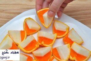 ژله داخل پوست پرتقال