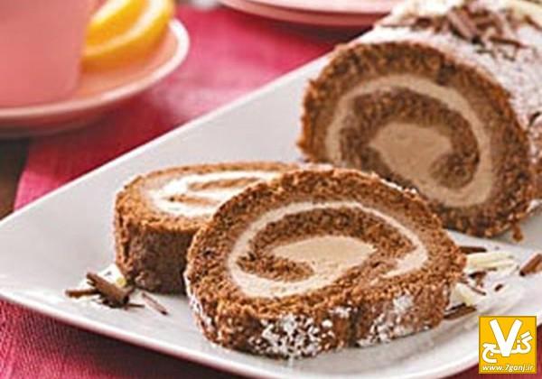 کیک با نام مهسا طرز تهیه كيك بستني رولتي کاکائویی ، دسر مجلسي تابستاني