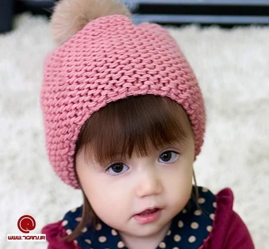 انواع مدل کلاه بافتنی بچه گانه دخترانه