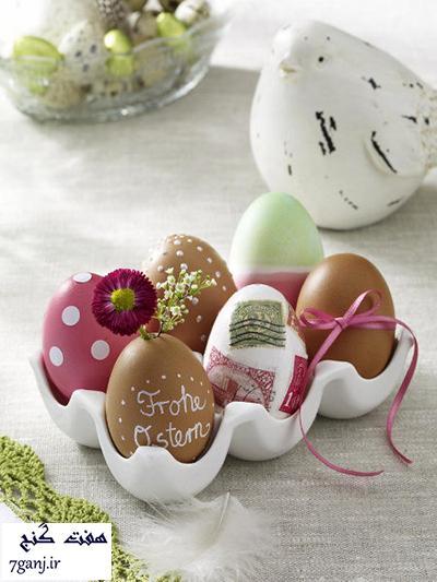 تزيينات تخم مرغ براي عيد