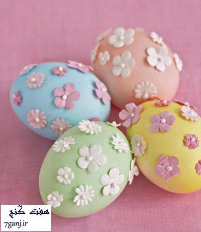 نمونه هاي تزيين تخم مرغ براي عيد