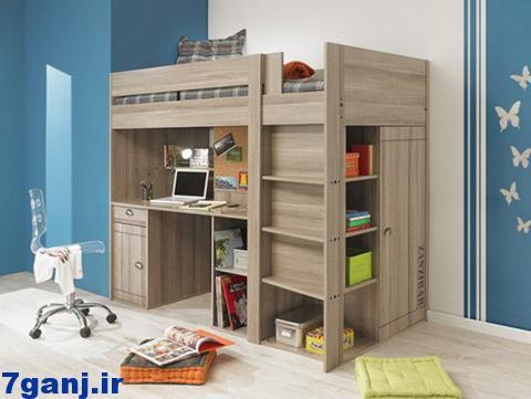 نمونه هاي دكوراسيون و طراحی اتاق خواب کودک برای اتاق های کوچک