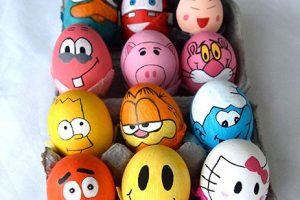 تزيين تخم مرغ رنگي