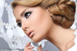 مدل آرايش صورت و شينيون عروس 94