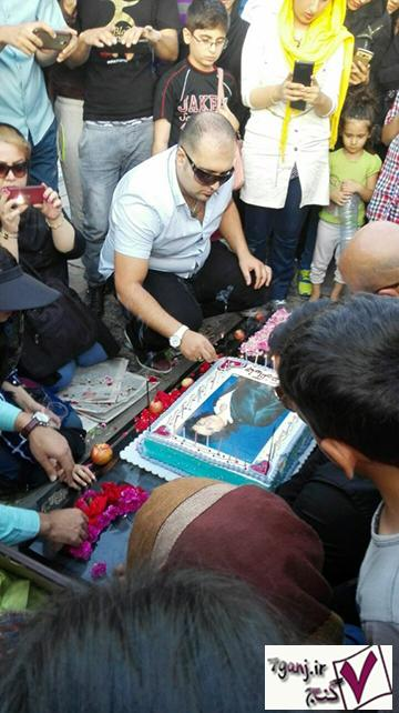جشن تولد مرتضي پاشايي در بهشت زهرا