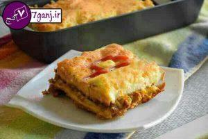 لازانيا با نان تست