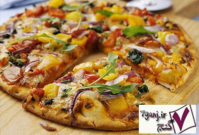 پيتزاي سبزيجات رژيمي