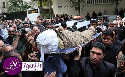مراسم تشييع جنازه علي طباطبايي