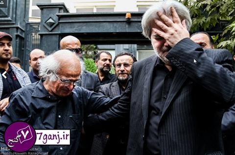 تصاوير هنرمندان در مراسم تشييع علي طباطبايي