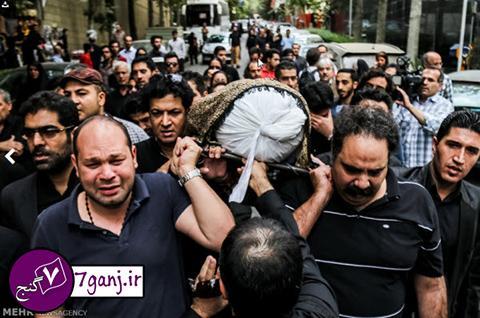 چهره هاي سرشناس در مراسم تشييع علي طباطبايي