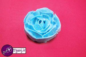 تزيين خامه به شكل گل رز