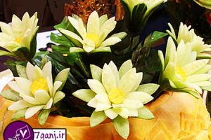 آموزش ساخت گل با خيار