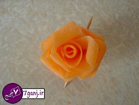 تزيين هويج به شكل گل رز