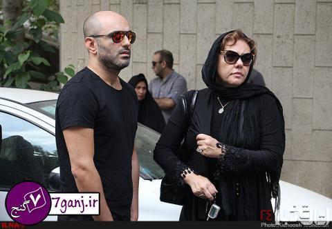 عكسهاي بازيگران در مراسم تشييع علي طباطبايي