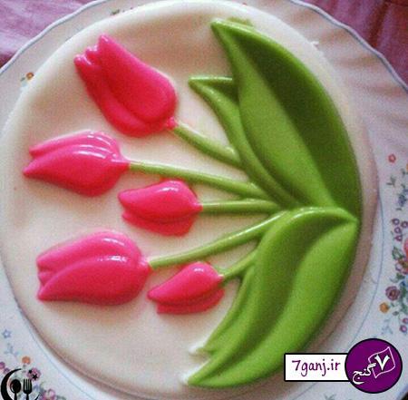 تزيينات ژله مجلسي - ژله گلدار