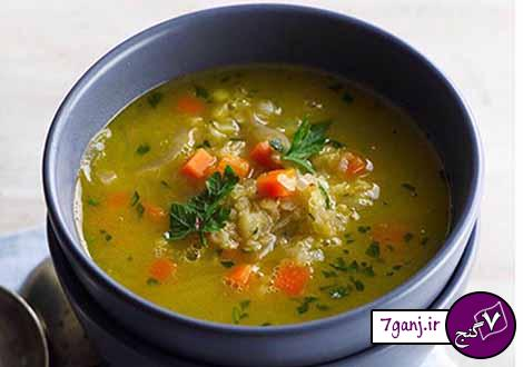 سوپ عدس قرمز و هويج رژيمي