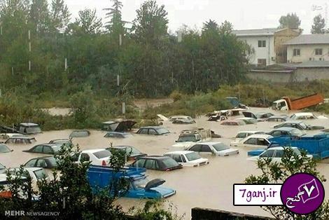 تصاوير سيل در مازندران 25 مهر 94