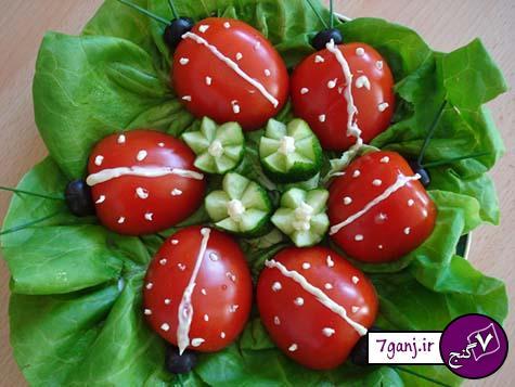 مدلهاي تزيين گوجه و خيار