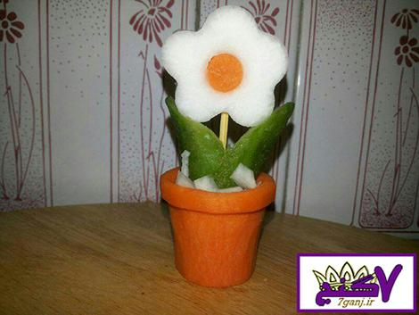 آموزش ساخت گلدان زیبا برای تزیین سالاد