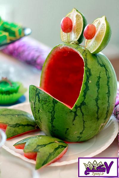 تزیین هندوانه به شکل قورباغه