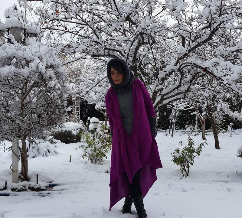عکس بازیگران در برف