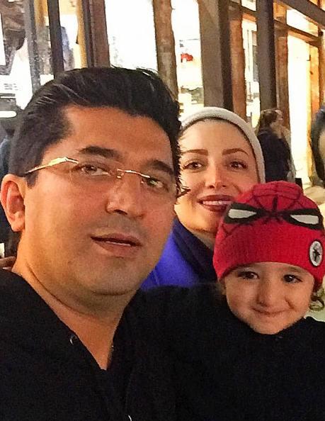 شیلا خداداد با همسر و فرزندش در آمریکا