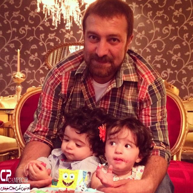 مجید صالحی و دو دخترش