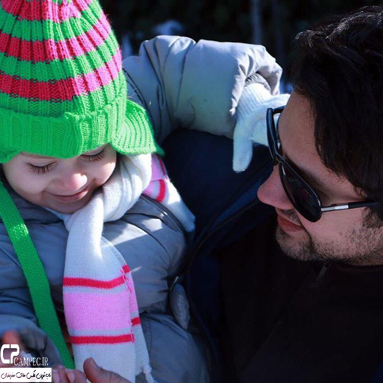 شاهرخ استخری با دخترش پناه