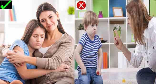 فریاد یا تنبیه پدرمادر ها چه تاثیری روی بچه ها دارد