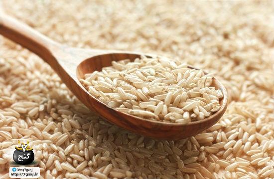 خواص برنج قهوه ای در مقایسه با برنج سفید