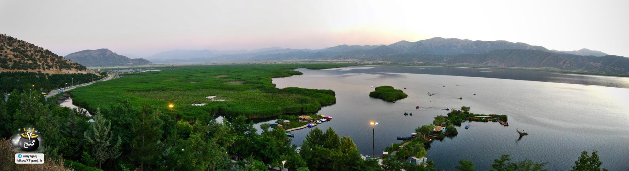 پانامورا دریاچه زریبار یا زریوار مریوان