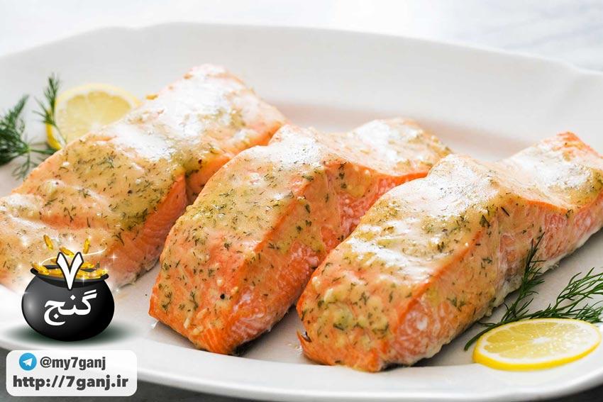 پخت ماهی سالمون