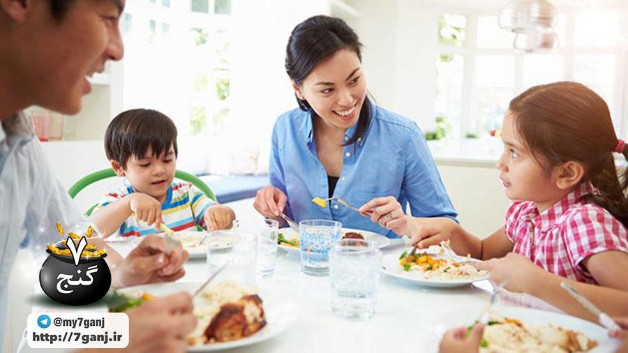 وعده های غذایی خانوادگی