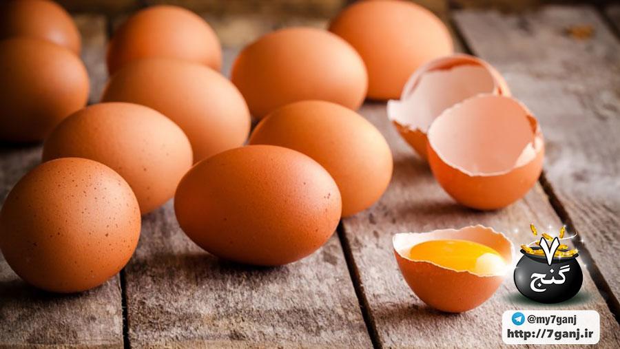 موهای سالم با تخم مرغ