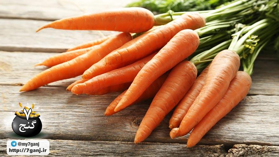 موهای سالم با هویج